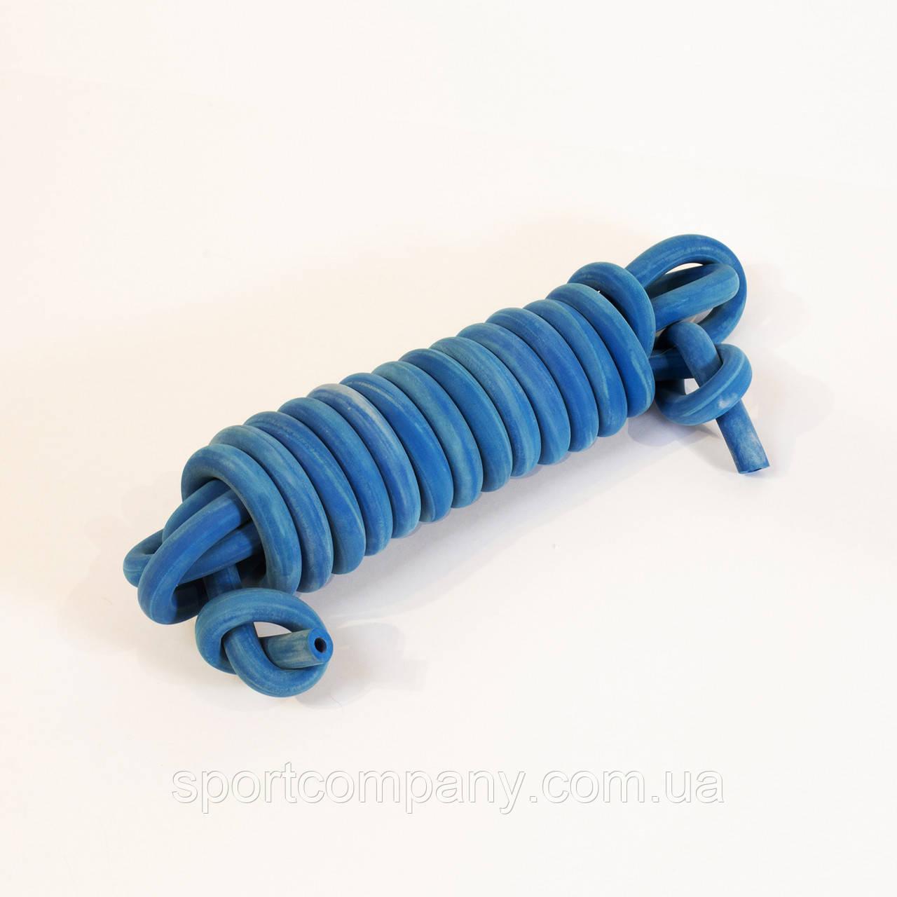 Жгут резиновый трубчатый спортивный ( резина, d-16 мм, I-1000 см, синий ) tr.blue16