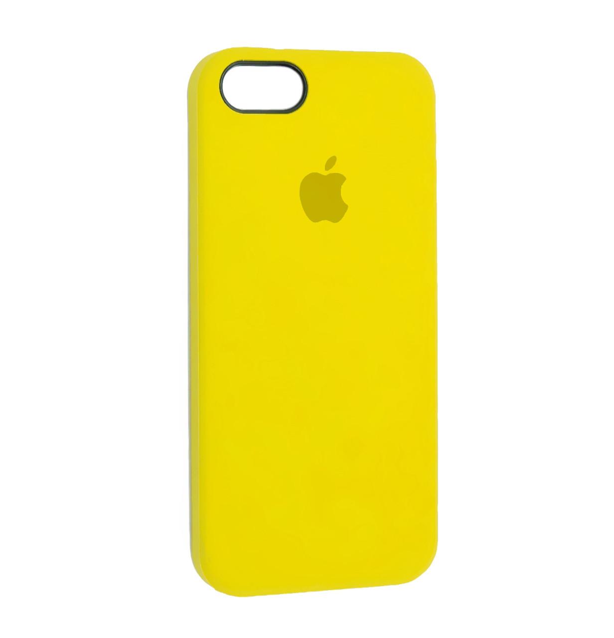 Чехол-накладка Original Silicone case на IPhone 5 / 5s / SE Yellow