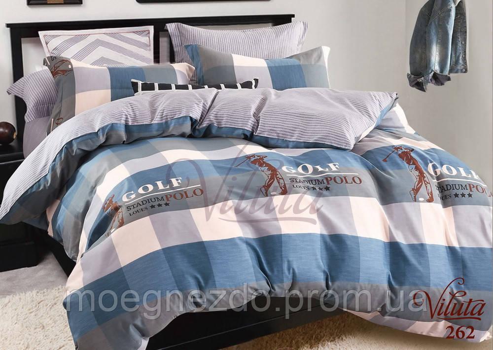 Детское подростковое постельное полуторное белье сатин Вилюта - GOLF