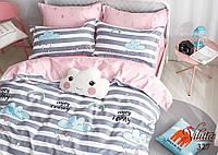 Детское подростковое постельное полуторное белье сатин Вилюта - ТУЧКА