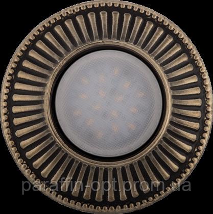 Світильник гіпсовий точковий (бронза) СГ 15 бронза (12/220V, G5.3, 35W)