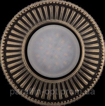 Світильник гіпсовий точковий (бронза) СГ 15 бронза (12/220V, G5.3, 35W), фото 2