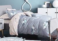 Детское подростковое постельное полуторное белье сатин Вилюта - СЕРДЕЧКИ ГРЕЙ