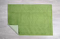 Махровый коврик для ванной прорезиненный Lotus 45*65 зеленый