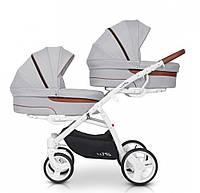 Детская коляска универсальная для двойни 2 в 1 EasyGo 2ofus grey fox (ИзиГоу, Польша)