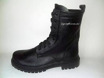 Мужские кожаные берцы / военная армейская обувь чоловічі шкіряні берці