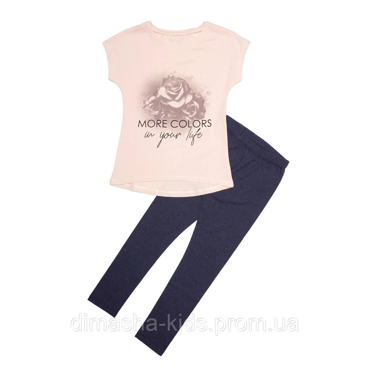 235926c28d7cb ✓Комплект для девочки, футболка и лосины. Роза., цена 265 грн ...