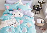 Детское подростковое постельное полуторное белье сатин Вилюта - СЕРДЕЧНОЕ НАСТРОЕНИЕ