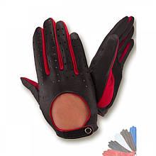 Автомобильные перчатки из натуральной кожи без подкладки модель 122