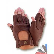 Автомобильные перчатки из натуральной кожи без подкладки модель 484