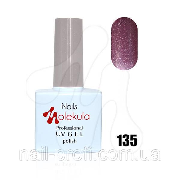 №135 красный с голографическими блестками