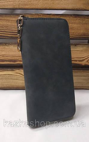 Женский кошелек из искусственной кожи, на молнии, 4 купюрницы, для 12 карт, фото 2