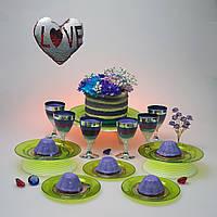 Набор посуды для детского праздника детского дня рождения выпускного утренника небьющиеся тарелки CFP 6шт190мм