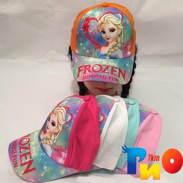 Детская  летняя кепка (100% cotton) для девочек р-р 52 (5 ед в уп) NA_5140