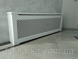 Декоративный экран-решетка (короб) на батарею отопления №102