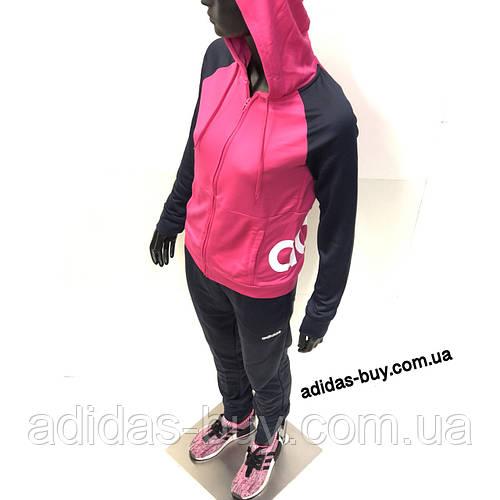 ce0ff980ad2 Спортивный костюм adidas женский WTS Lin FT Hood DV2426 цвет  синий розовый  оригинальный   продажа