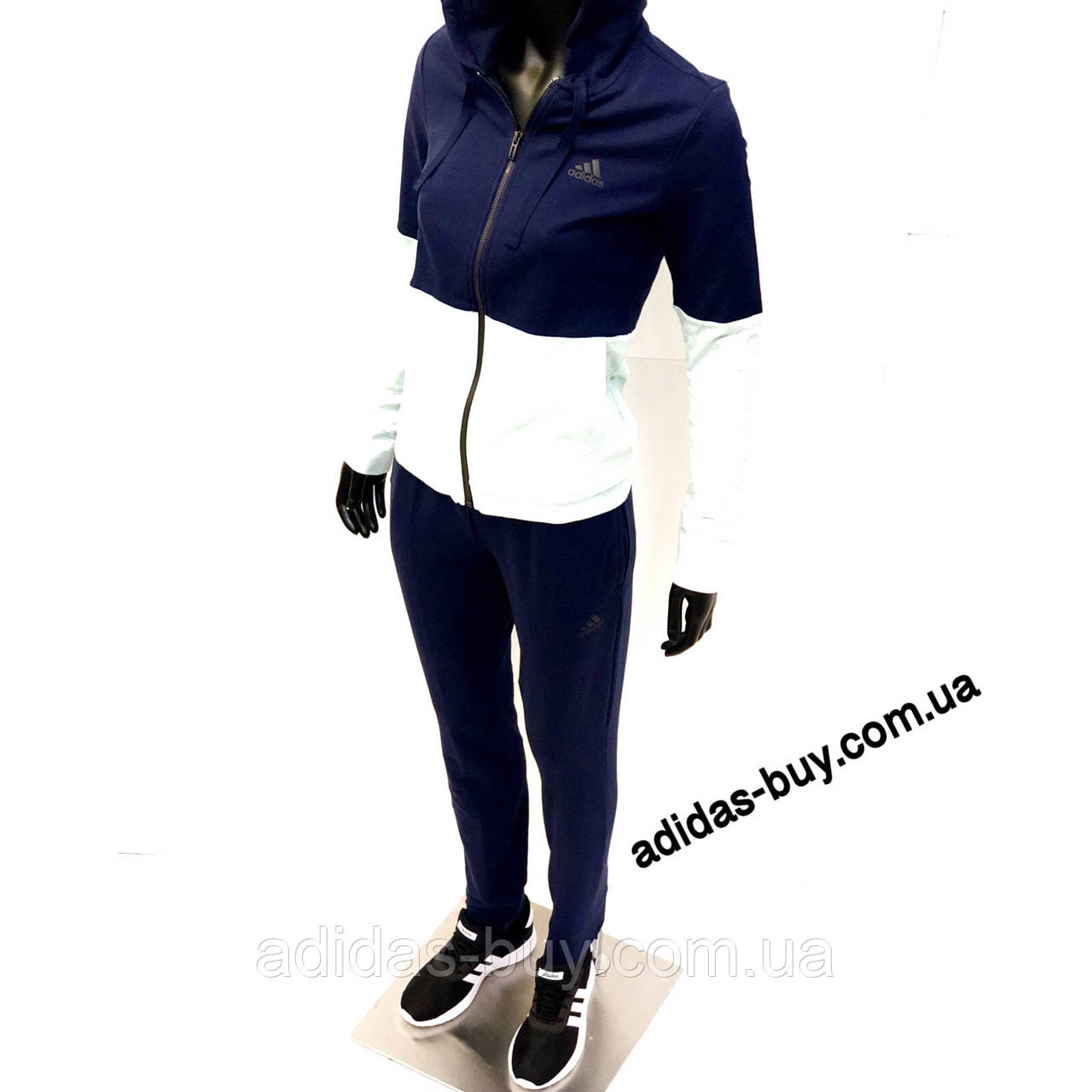 Женский костюм adidas WTS CO MARKER CY3509 цвет: синий/салатовый оригинальный