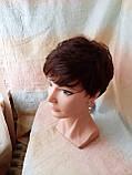 Короткий парик из термоволокна каштановый 2763t-33, фото 2