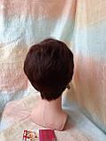 Короткий парик из термоволокна каштановый 2763t-33, фото 4