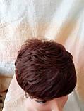 Короткий парик из термоволокна каштановый 2763t-33, фото 5