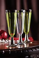 Свадебные бокалы цветные коллекция «Классико» CFP 6шт/уп 55мм 130мл