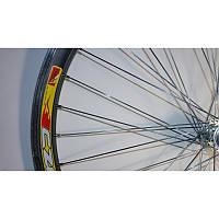 """Обод передний на велосипед 26"""" (двухслойный, алюминиевый с алюминиевой втулкой)"""