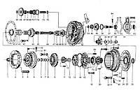 Запчасти на ГТР гидротрансформатор YJ315F, запасные части на ГТР гидротрансформатор YJ315X