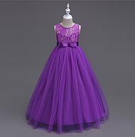 Платье фиолетовое бальное выпускное длинное в пол нарядное для девочки в садик или школу, фото 1