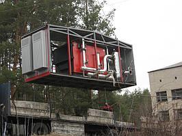 отгрузка одного блока котельной,состоящей из трех вагончиков