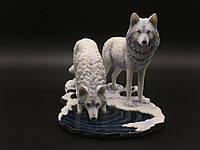 Коллекционная статуэтка Veronese Волки Зимние охотники WS-847
