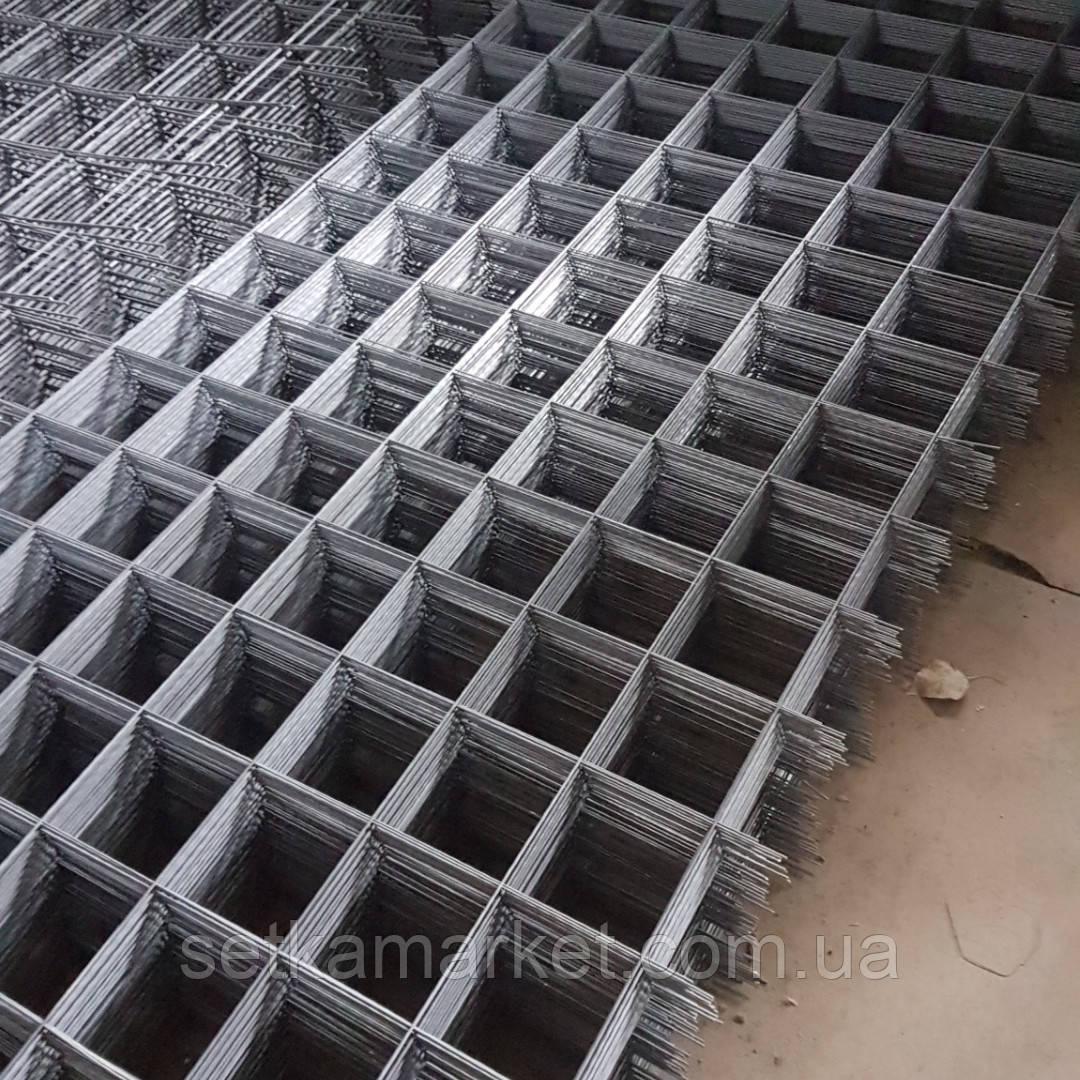 Сетка кладочная, яч 120x120 мм, проволока 2,4 мм, лист 2х1 м.