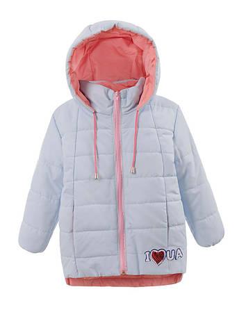 58a6001fdad Детская демисезонная куртка на девочку св.голубая