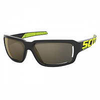 Спортивные очки SCOTT OBSESS ACS black/neon yellow gold chrome