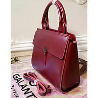 43dc8ddcf501 Женская стильная сумка GALANTY из натуральной кожи бордового цвета