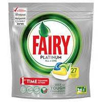 """Таблетки для посудомоечной машины """"Fairy Platinum"""" (27 шт.)"""