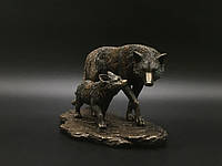 Коллекционная статуэтка Veronese Волчица с волчонком WU74854A4