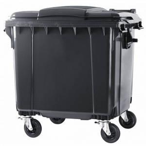 ESE  пластиковий бак для сміття 1,1 м3. з плоскою кришкою