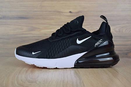 d0740e45 Мужские кроссовки Nike Air Max 270 черные на белой подошве топ-реплика,  фото 2