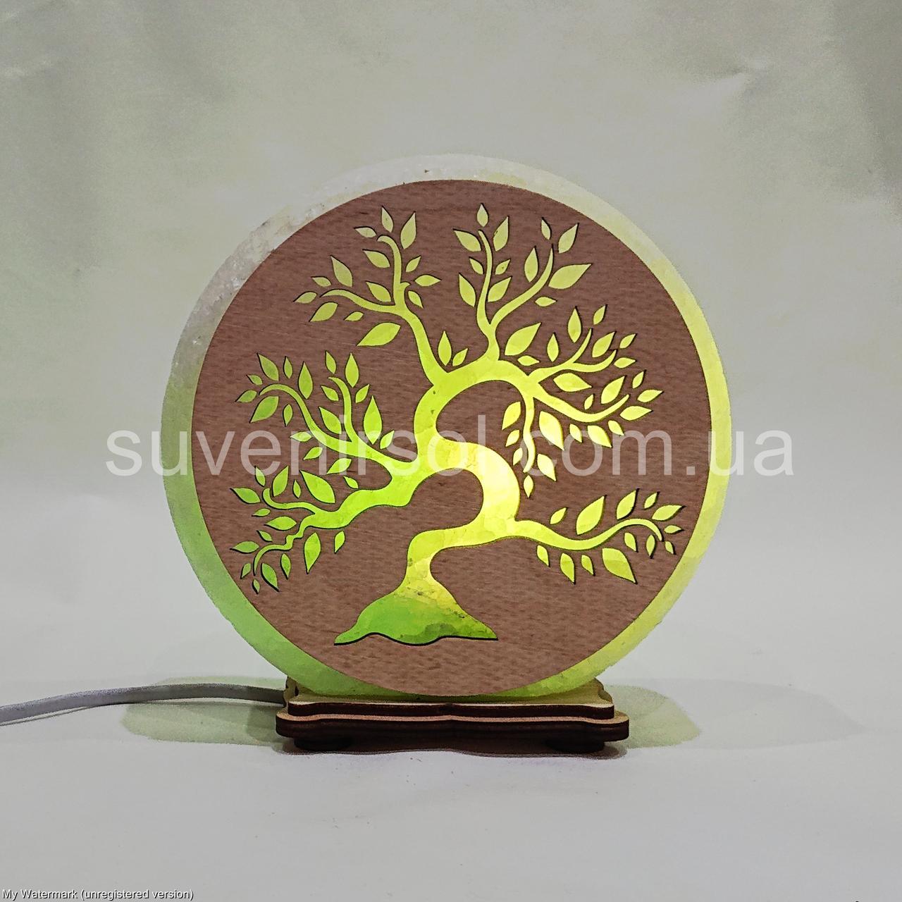 Соляной светильник круглый  Дерево