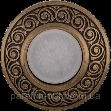 Світильник гіпсовий точковий СГ 28 бронза (MR16, 35W), фото 2