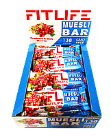 Упаковка батончиков FitLife Muesli Bar Cranberry & Oats 12 шт х 60 г