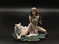 Коллекционная статуэтка Veronese Девушка с волком WU76808AA