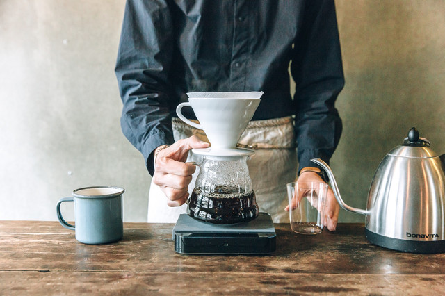 альтернативное заваривание кофе, пуровер харио белый большой 400 мл. заказать