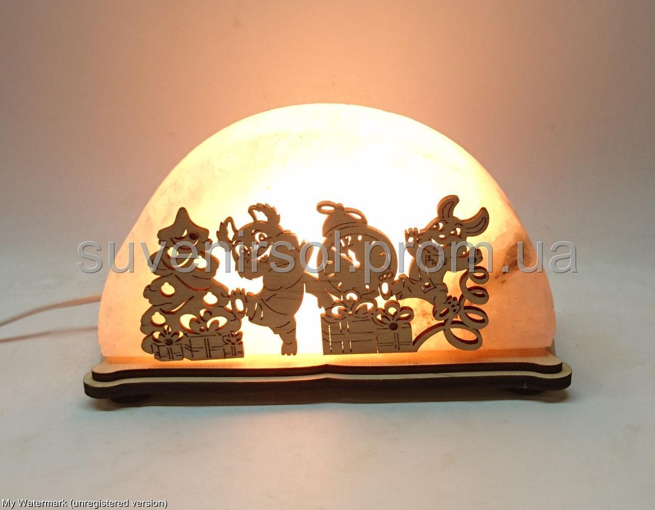 Соляной светильник Заяц и Миша