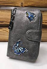 Женский кошелек из искусственной кожи, на молнии, 3 купюрницы, для 16 карт, фото 3