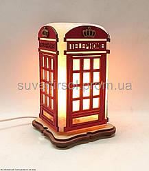 Соляной светильник Телефонная будка красная