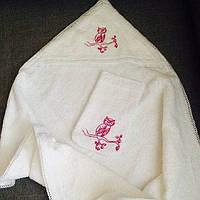 Полотенце-уголок ручной работы с вышивкой Сова