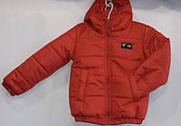 Куртка демисезоннаядетская,для мальчика,2-6 лет, красная