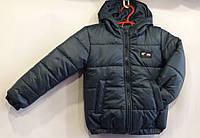 Куртка демисезоннаядетская,для мальчика,2-6 лет, зеленая