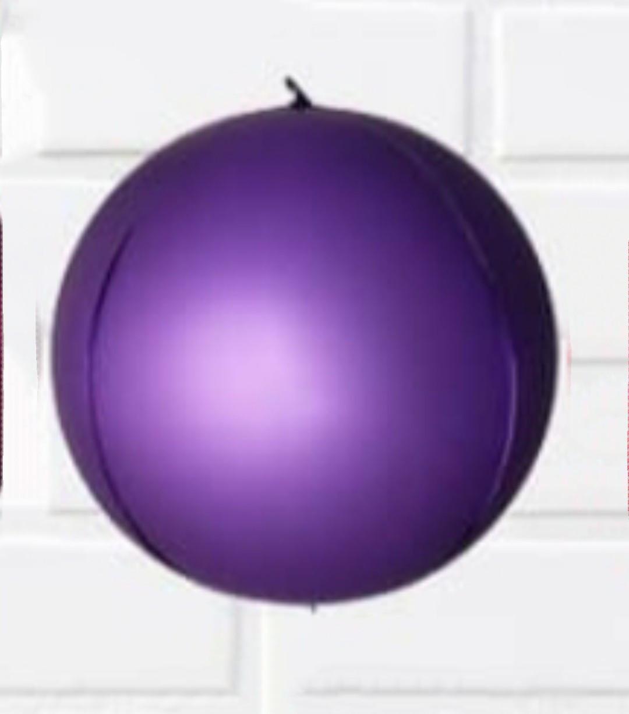 Фольгований куля сфера 3D, фіолетовий хром, 10 дюймів/25 див.